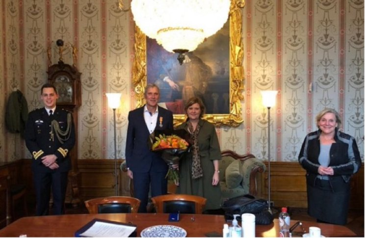 Marc de Natris benoemd tot Ridder in de Orde van Oranje-Nassau